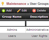 User Groups and Security